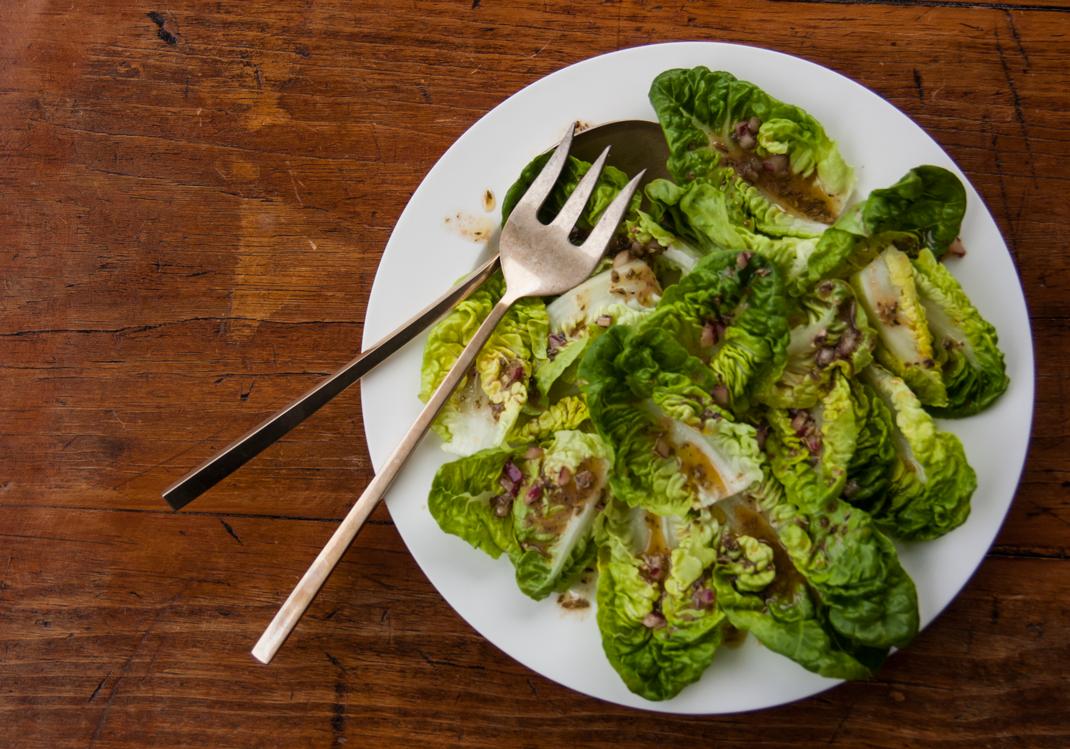 Little Gem Salad with Red Wine Vinaigrette