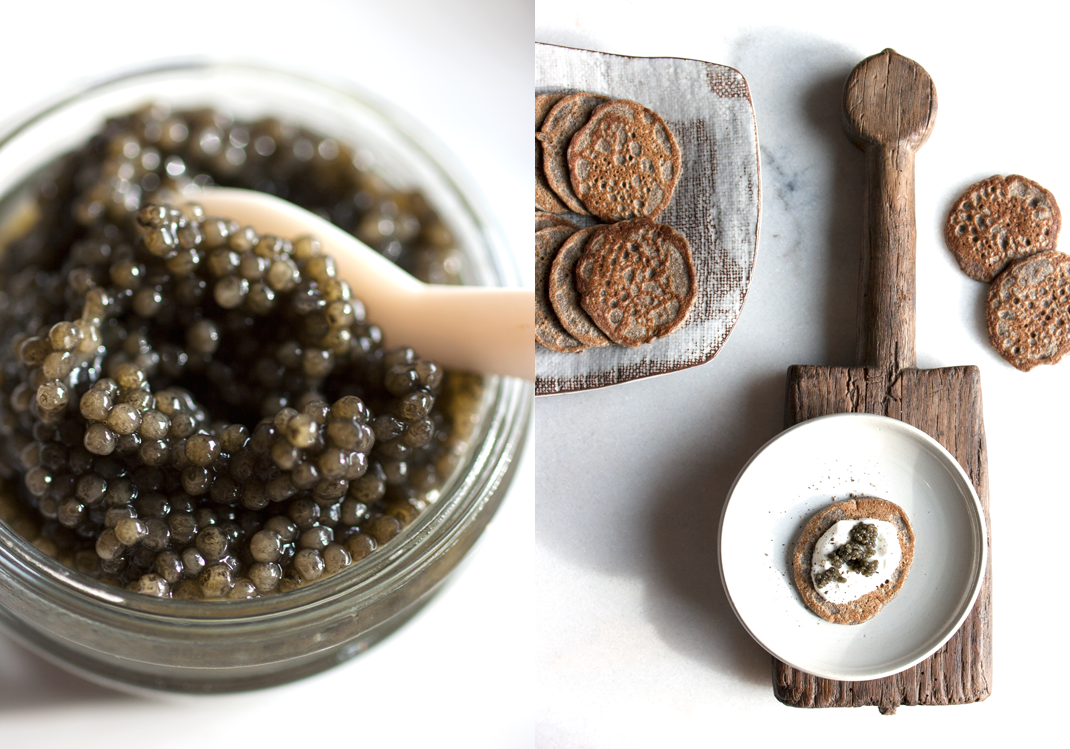 American Sturgeon Caviar | Buckwheat Blini and Caviar